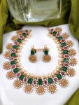 Emerald Green & Red RamParivar Necklace-01