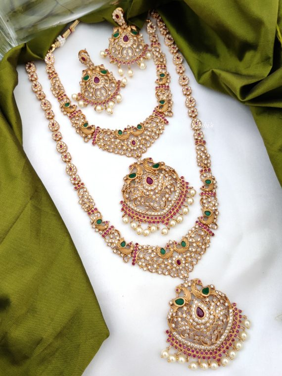 Grand South Indian Imitation Bridal Jewellery Set-01