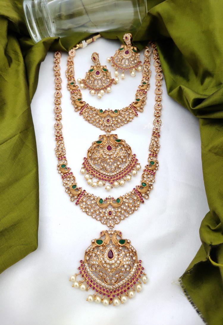 Grand South Indian Imitation Bridal Jewellery Set-02