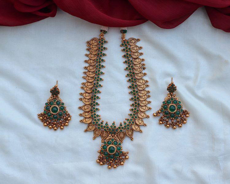 Green Coin Necklace Set-01