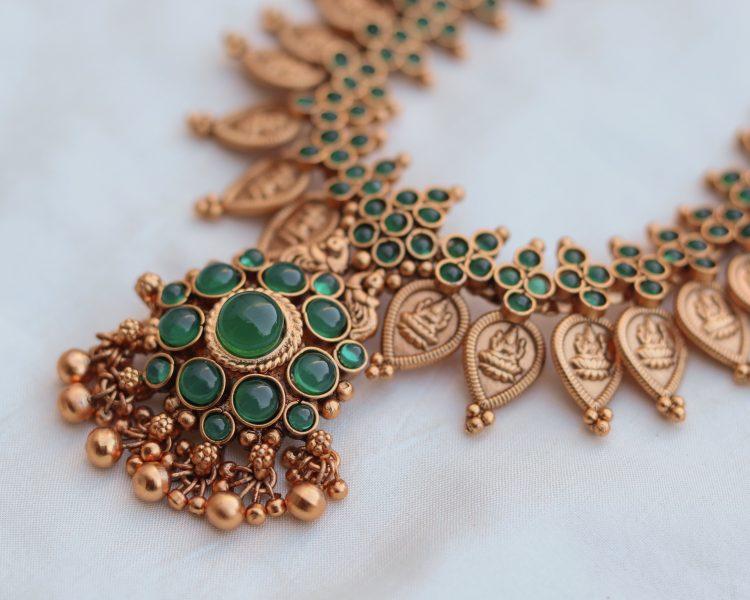 Green Coin Necklace Set-02