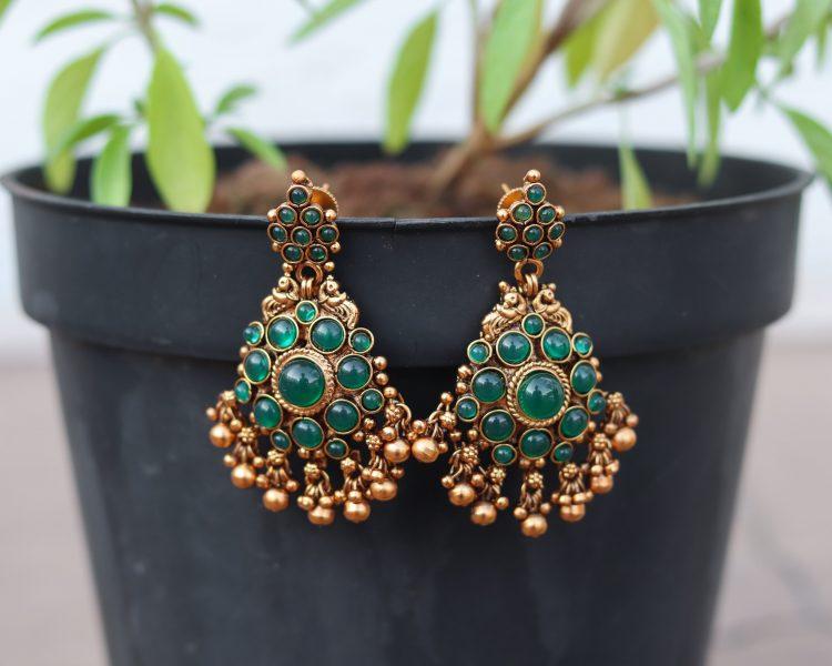Green Coin Necklace Set-03