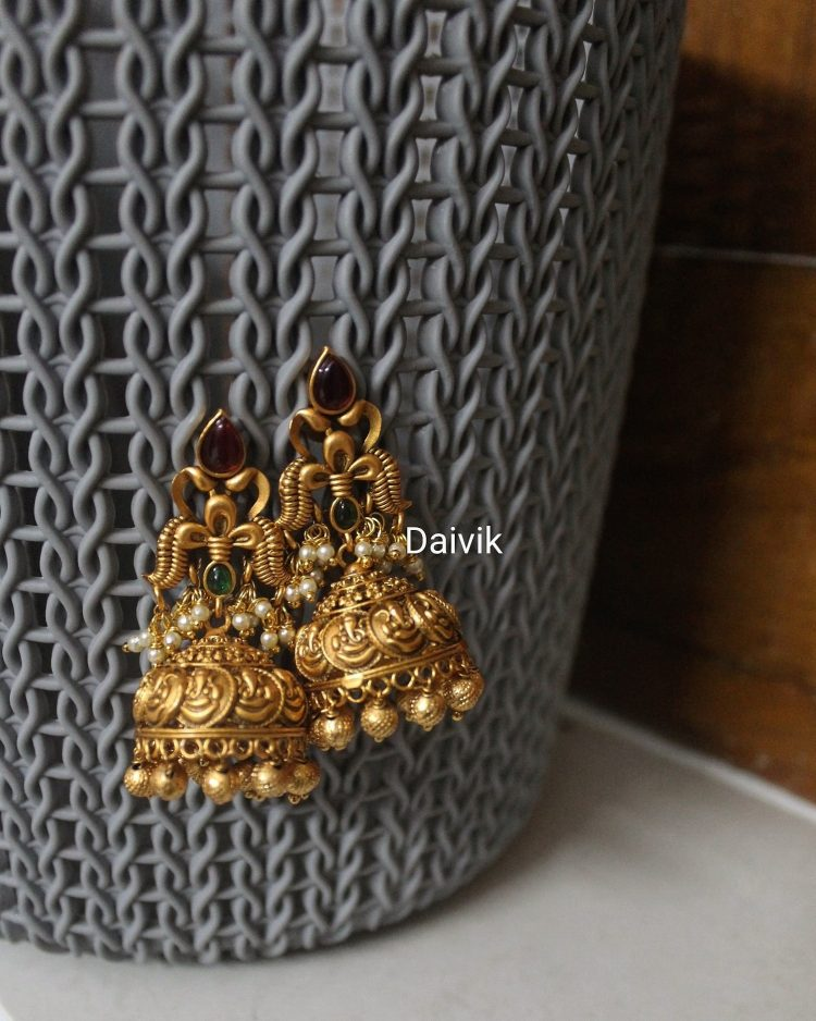 Imitation Ganesh Coin Jhumkas-01