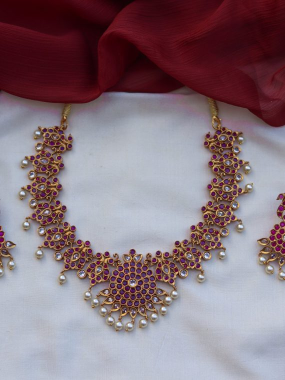 Kemp Ruby Pearl Necklace-01