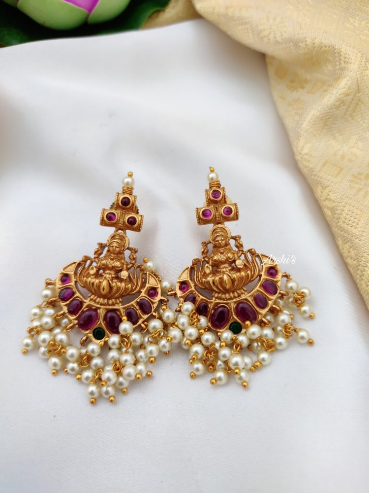 Lakshmi Guttapusalu Necklace Set Jhumkas-02