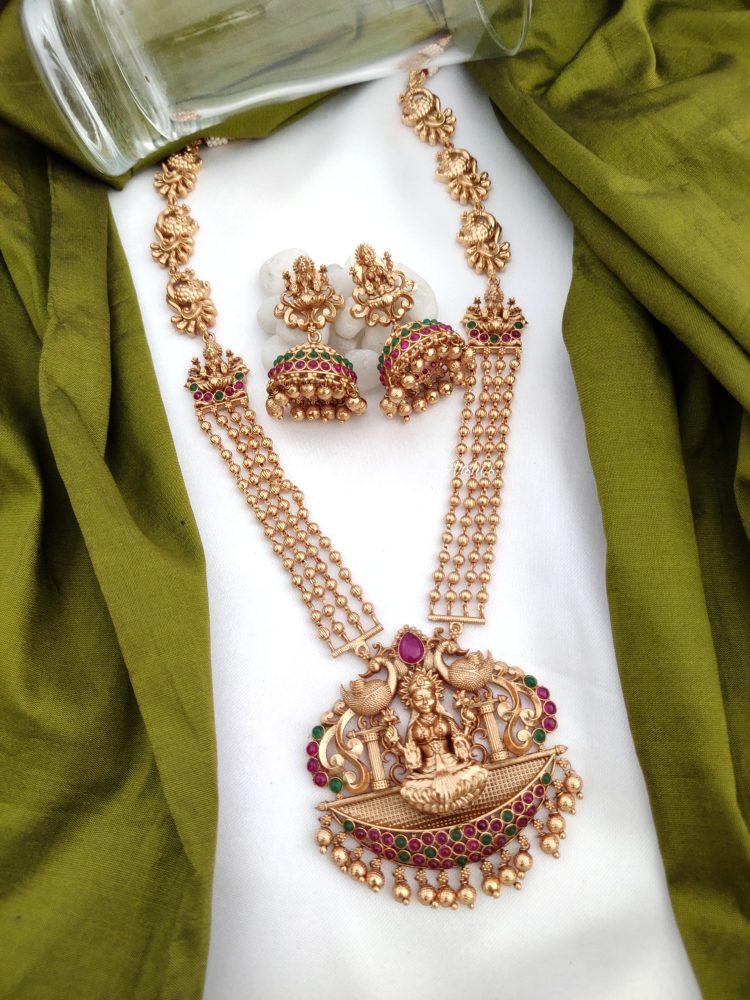 Multilayer Temple Lakshmi Necklace Set-01