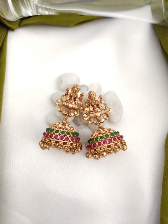 Multilayer Temple Lakshmi Necklace Set-02