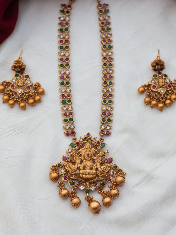 One-Gram-Gold-Lakshmi-Necklace-With-Earrings-02