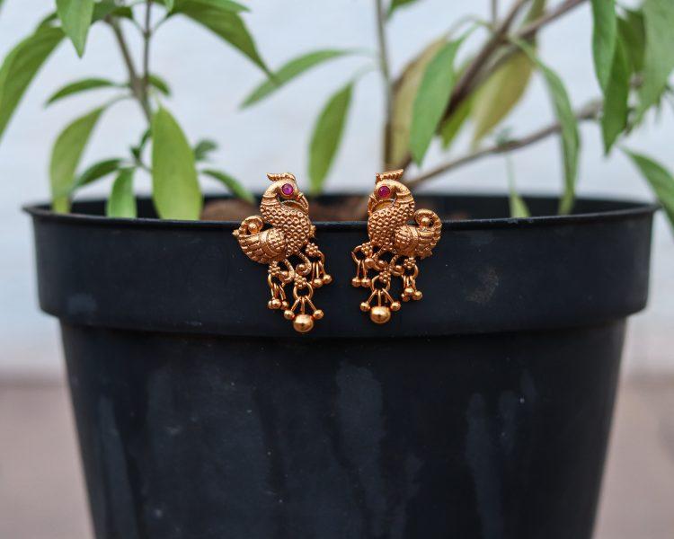 Temple Peacock Necklace Set-03