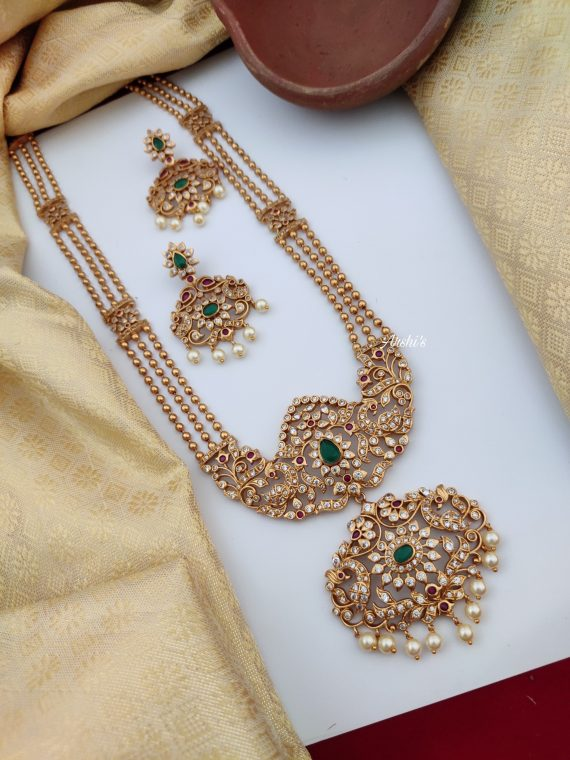 Three Layer Antique Ball Haram Set-01