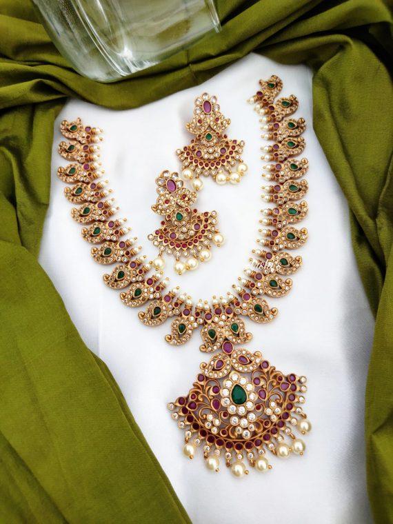 Traditional Bridal Mango Necklace Set-01