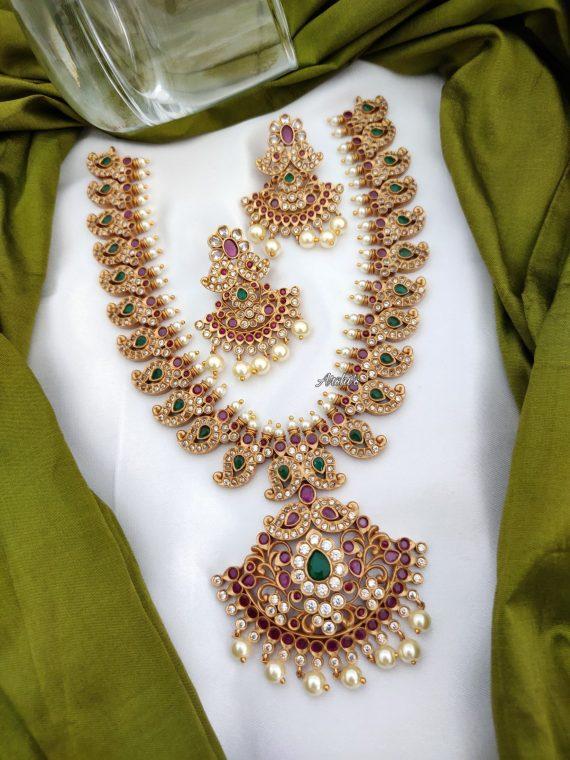 Traditional Bridal Mango Necklace Set-02