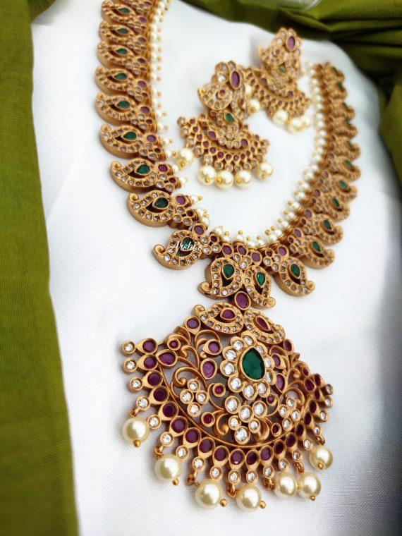 Traditional Bridal Mango Necklace Set-03