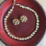 Vilandi Kundan Single Layer Necklace-01