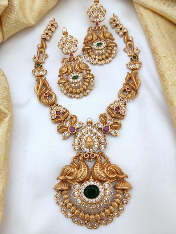 Elegant Peacock Necklace Set-01