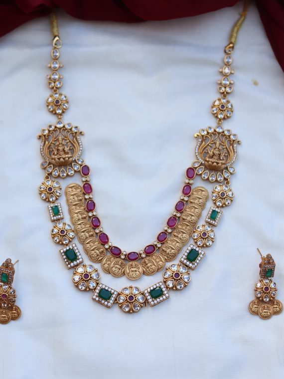 One Gram Gold Multilayer Neckalace Set-01