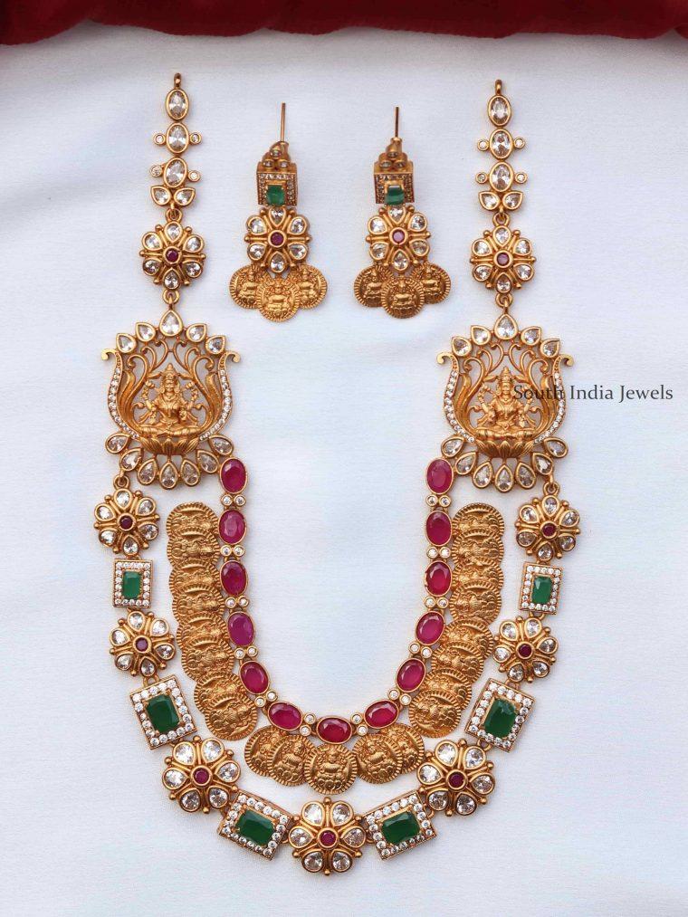 One Gram Gold Multilayer Necklace Set