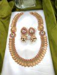 Plain Lakshmi Coin with Side Mugappu Haram-01