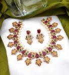 Ruby and Green Stone Ram Parivari Necklace-01