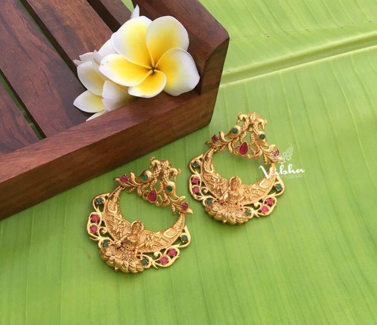 Alluring Grand Lakshmi Chandbali Earrings-01