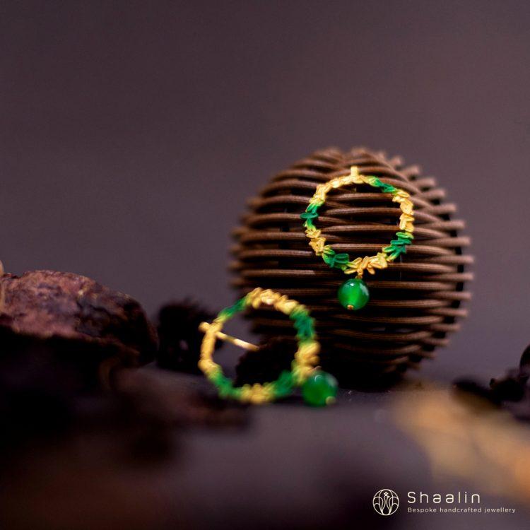 Beautiful Hand Painted Hoop Earrings-01
