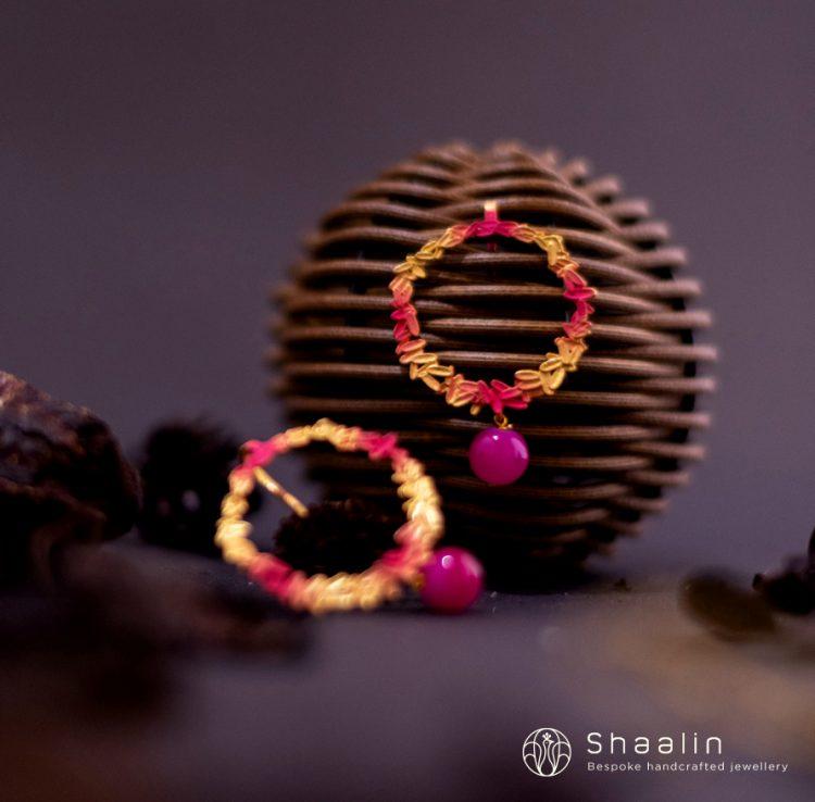 Beautiful Hand Painted Hoop Earrings-04