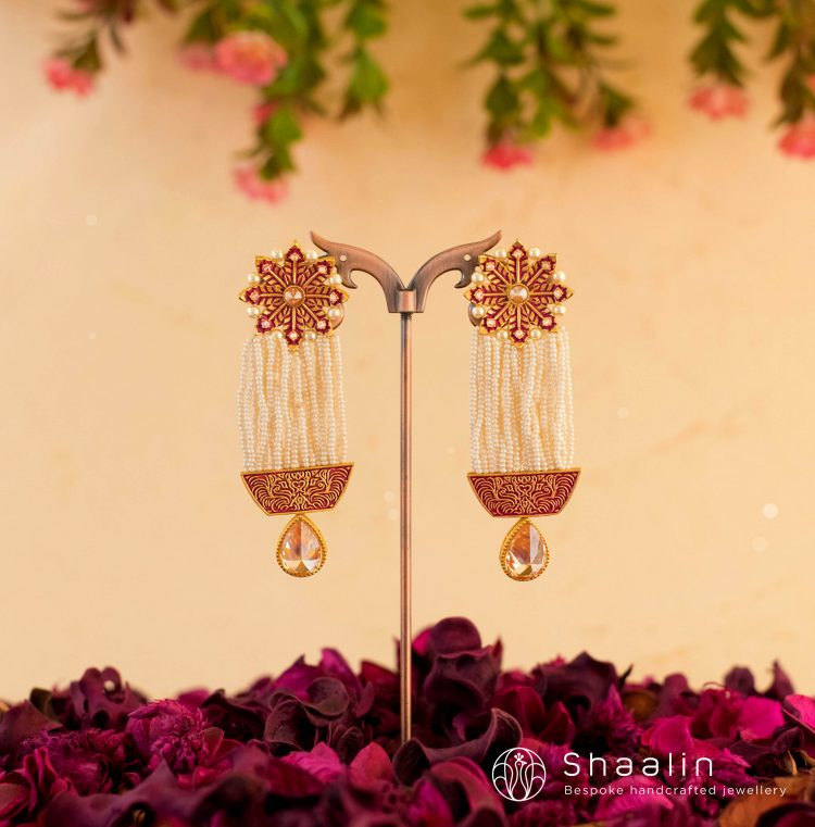Beautiful Pearl Tassels Earrings-01