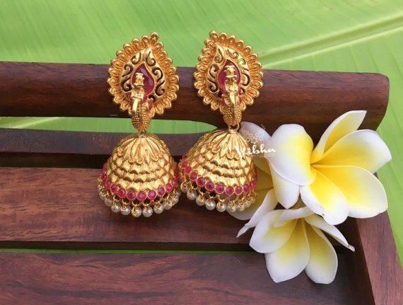 Gorgeous Imitation 3D Peacock Earrings-01