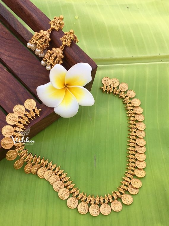 Gorgeous Imitation Lakshmi Coin Necklace-01