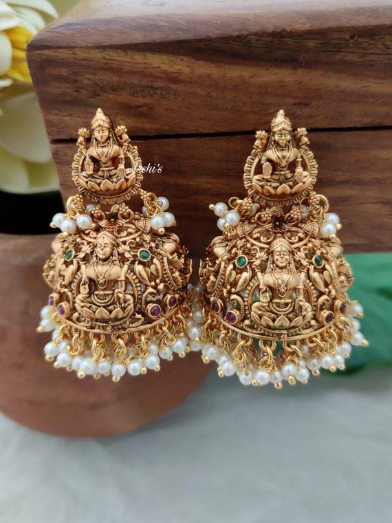 Imitation Grand Lakshmi Jhumkas-01