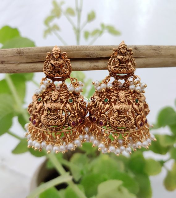 Imitation Grand Lakshmi Jhumkas-02
