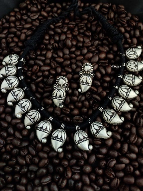 Original German Silver Mango Beads Necklace-01