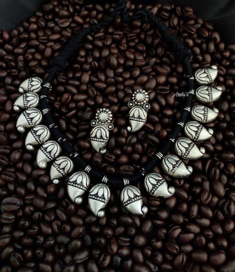 Original German Silver Mango Beads Necklace-01