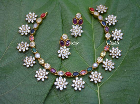 AD Navarathna Necklace Set-01