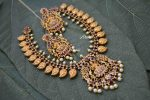 AD Stone Grand Lakshmi Mango Necklace-02