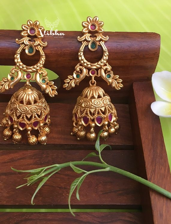 Amazing Matte Finish Jhumkas