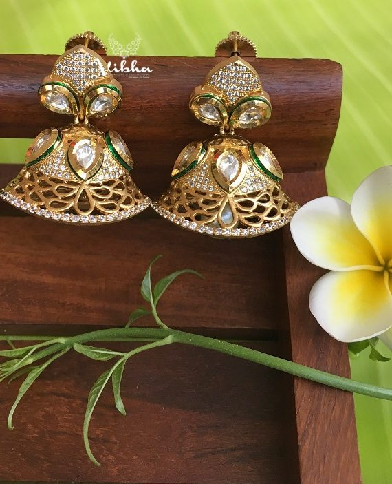 Beautiful Antique Matte Finsh Jhumkas-01