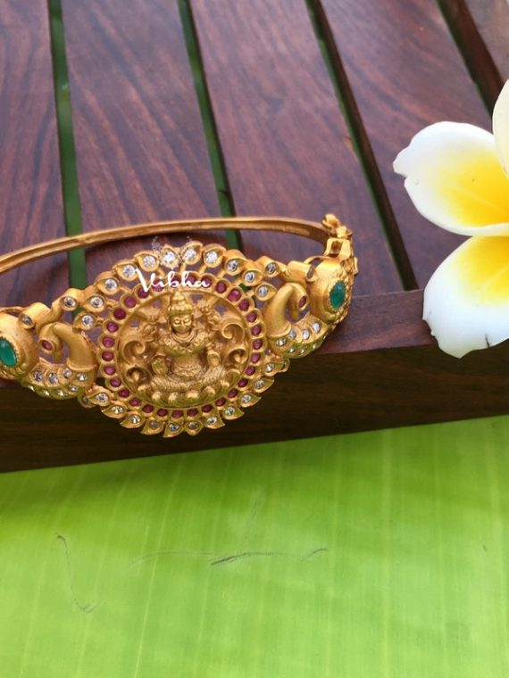 Beautiful Crafted Grand Matte Lakshmi Kada Bangles-01