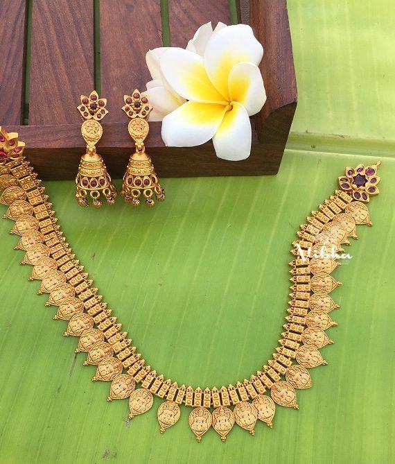 Beautiful Lakshmi Kasu Necklace-02