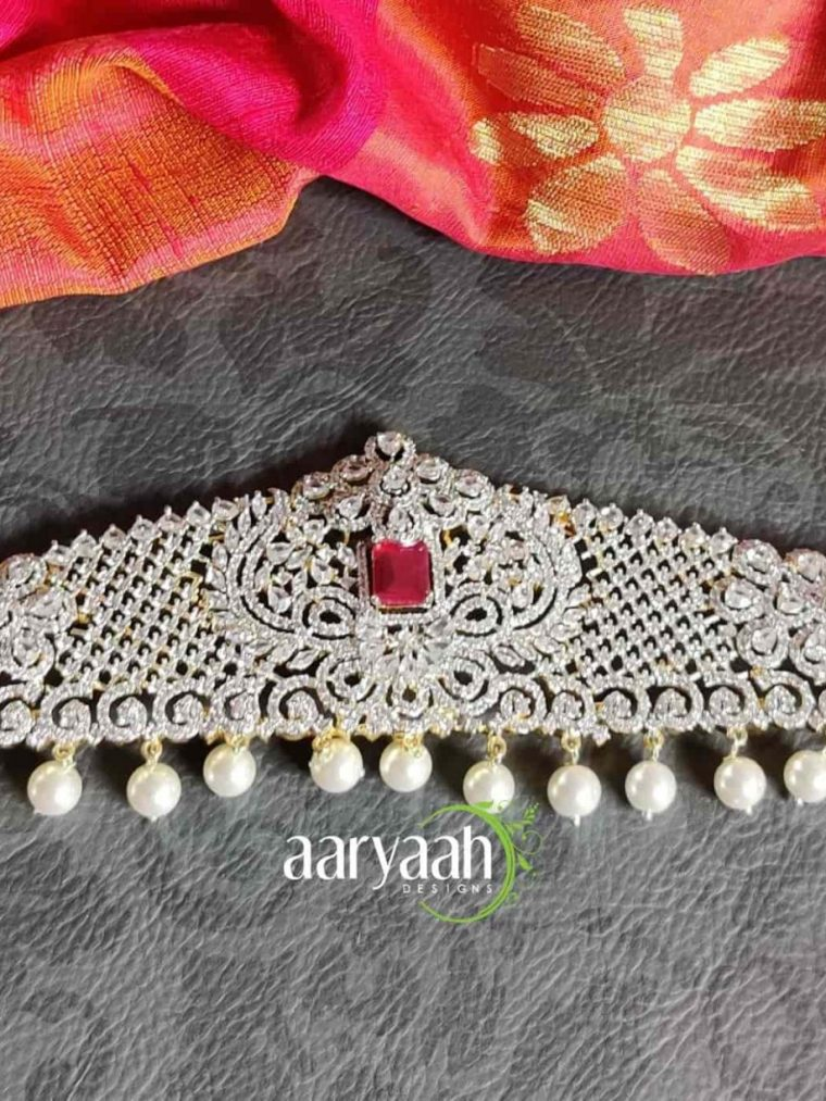 Bridal Elegant Diamond Finish Hip Belt-01
