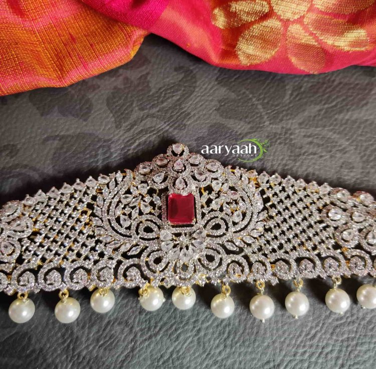 Bridal Elegant Diamond Finish Hip Belt-02