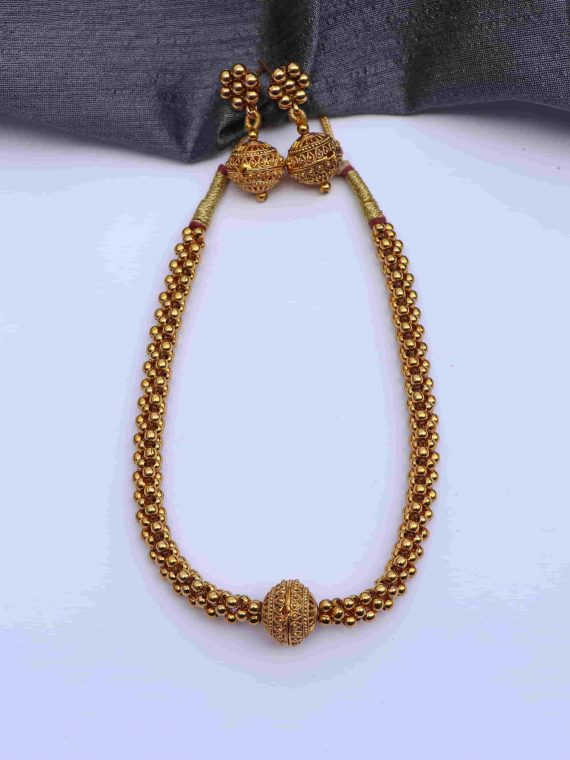 Classy Antique Finish Necklace-01