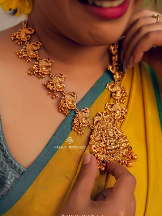 Classy Designer Temple Jewellery Necklace-01
