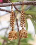 Grand Bridal Jhumkas with Ear Chains-01