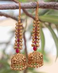 Grand Bridal Jhumkas with Ear Chains-02