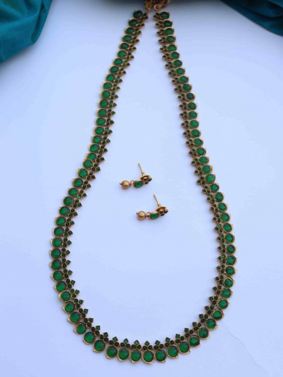 Simple Traditional Mango Long Necklace-01