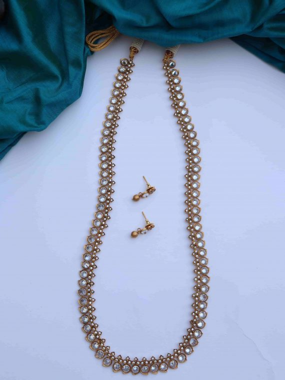 Simple Traditional Mango Long Necklace-02