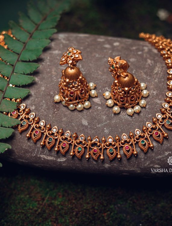 Traditional Pichimottu Maala Necklace-01