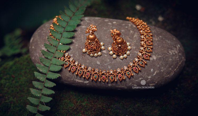 Traditional Pichimottu Maala Necklace-01