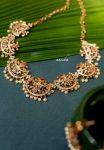 White Stone Moon Design Necklace-01